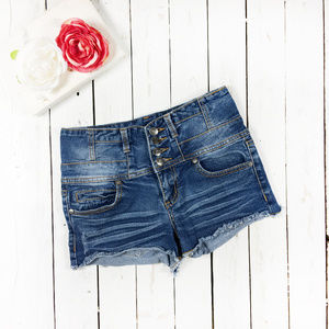 Harmony + Havoc distressed high waisted shorts